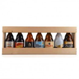 1/2 Metre de bière bois 7 x 33 cl (bouteilles basses) - Vide