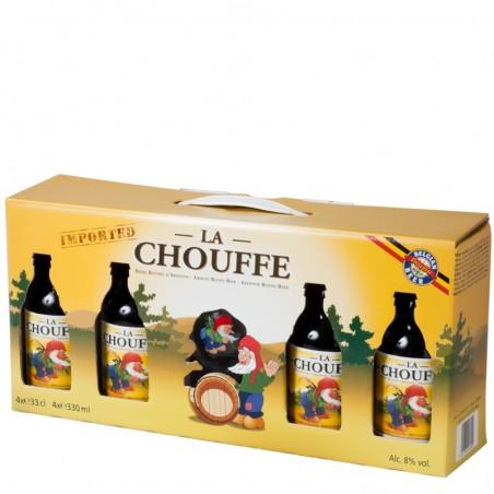 Coffret Chouffe 4 bouteilles + 1 verre