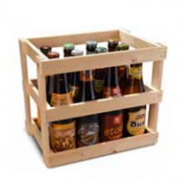 caisse en bois bouteilles de bi re pour 12 bouteilles de 33 cl. Black Bedroom Furniture Sets. Home Design Ideas
