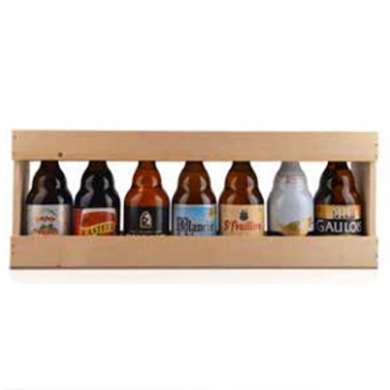 1 2 m tre en bois pour 7 bouteilles de bi res basses de 33 cl. Black Bedroom Furniture Sets. Home Design Ideas