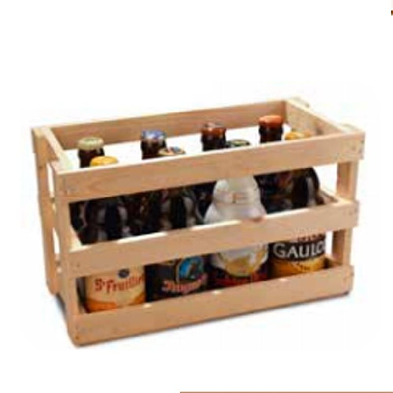 Caisse bois 8 x 33 cl ( bouteilles basses) - Vide