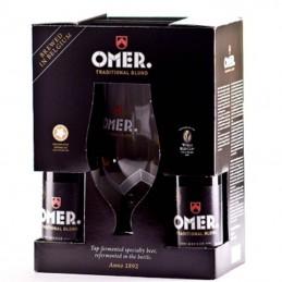 Coffret Omer 4 bouteilles + 1 Verre